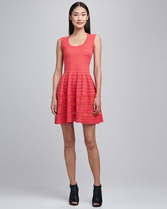 Sleeveless Solid Rib Stitch Dress