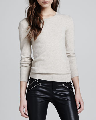 Elena Relaxed Cashmere Sweater, Oatmeal