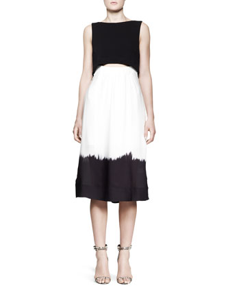 Davie Dipped-Skirt Dress