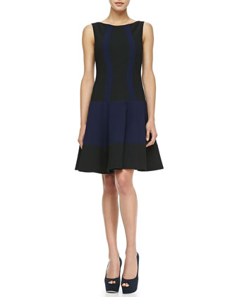 Get Around Colorblock Sleeveless Dress, Navy/Black