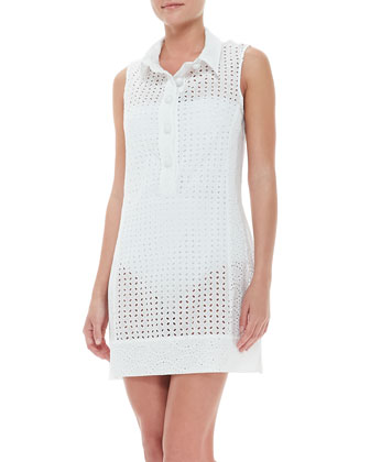 Ooh La La Eyelet Short Sleeveless Coverup Dress