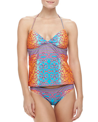Honey Printed Tankini Top