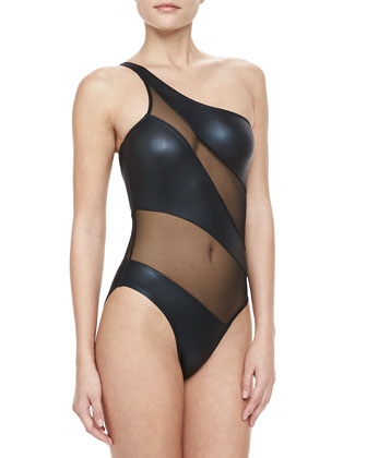 Mio Foil Snake One-Piece Swimsuit