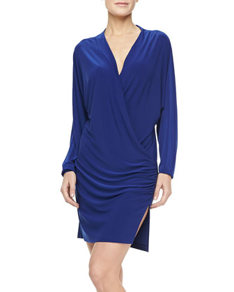 Daphne Long-Sleeve Jersey Coverup Dress