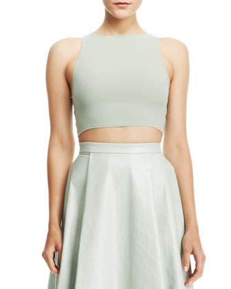 Silk/Lace Crop Top