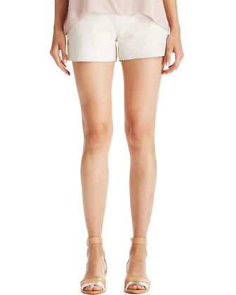 Mariette Leather Shorts