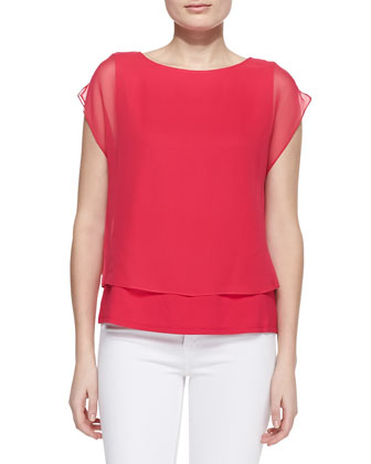 Leila Silk Layered Blouse