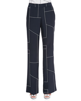 Mitrana Geometric-Print Trousers