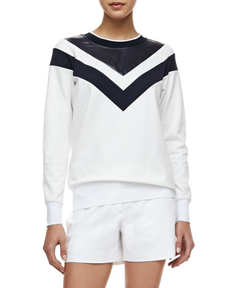 Damiel Pryor Long Sleeve Top, Uniform White