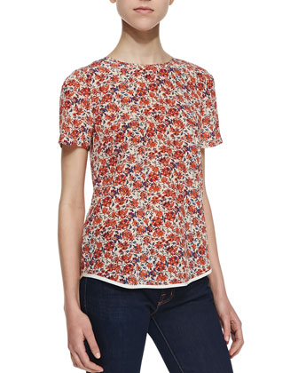 Sweet William Floral-Print Tee