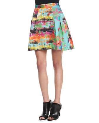 Raquel Pleated Printed Skirt