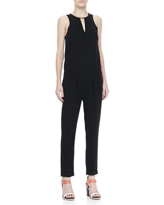 Lana Sleeveless Drop-Waist Jumpsuit