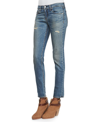 Dre Slim Boyfriend Distressed Jeans