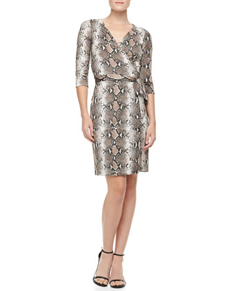 New Julian Two Python-Print Silk Jersey Dress