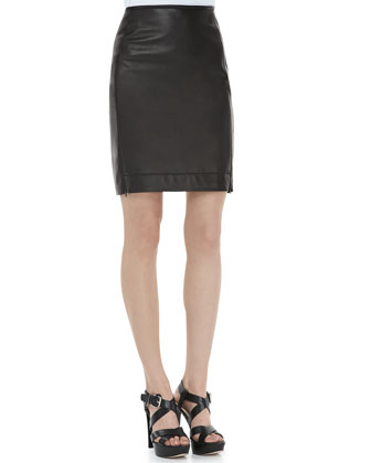 Rita Two Leather Skirt