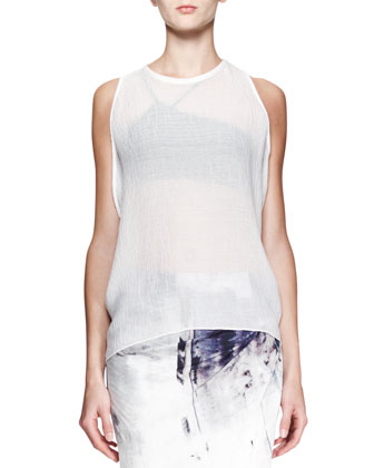 Breeze Sleeveless Keyhole Top and Tidal Printed Asymmetric Skirt