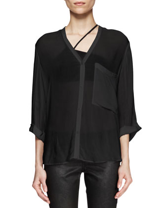 Lush Twist-Back Shirt
