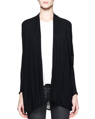 Slack Draped Jersey Cardigan and Kinetic High-Low Tank