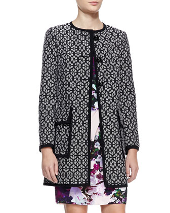 Young Love Patterned Coat & Forbidden Love Floral-Print Dress