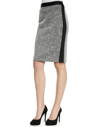 Alluring Solid-Trim Knit Skirt