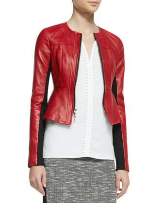 Sugar Leather/Knit Jacket