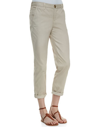 Traveler Cropped Cotton Pants