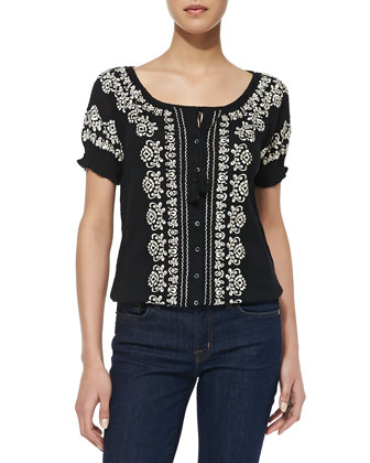 Dolina B Embroidered Blouse
