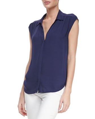 Bernadette Sleeveless Silk Blouse