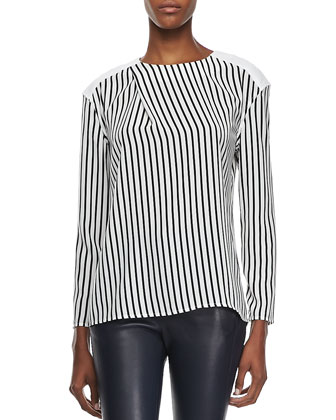 Richey Long-Sleeve Striped Tee