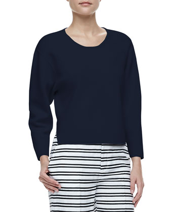 Jill Dropped-Sleeve Sweater
