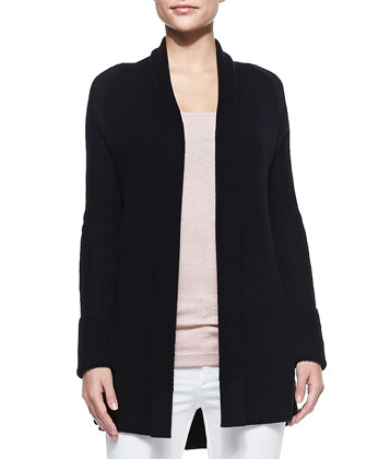 Suspension Loose Cozy Ribbed Cardigan