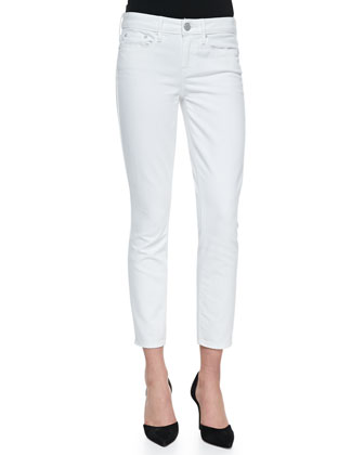 Dylan Slim Ankle Jeans, White