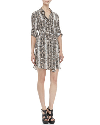 Polly Python-Print Dress