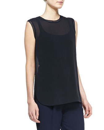 Sheer Sleeveless Loose Tank