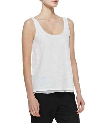 Linen/Silk Layered Tank