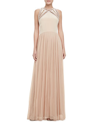 Georgette Sleeveless Gown