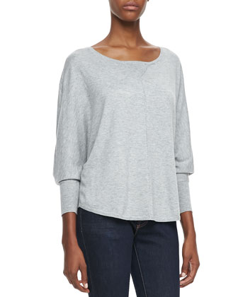 Christelle Batwing Long-Sleeve Sweater