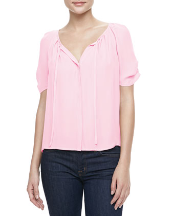 Berkeley Tie-Neck Blouse