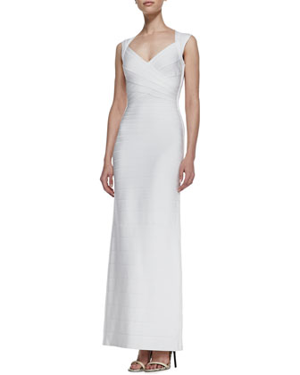 Sweetheart-Neck Bandage Long Gown