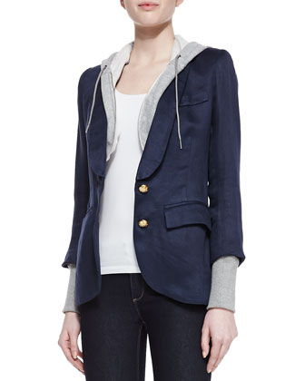 Blazer with Removable Hood