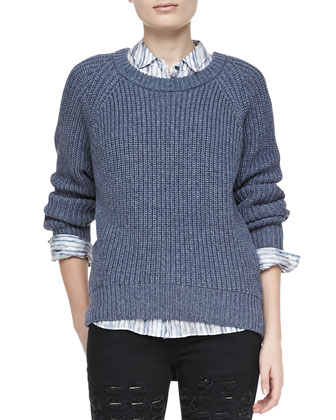 Kaslin R Long-Sleeve Knit Sweater
