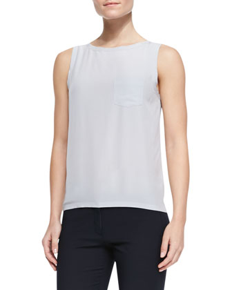 New Debardeur Sleeveless Blouse, Silver