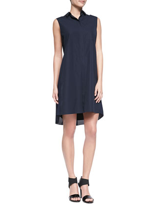 Richards Pleat-Back Cotton Shirtdress