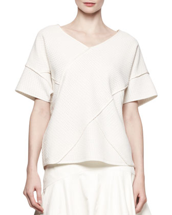 Oversized Cross-Seamed Shirt