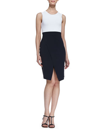 Savile Sleeveless Colorblock Dress