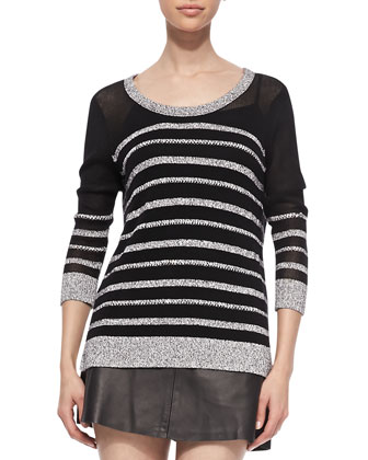 Azra Striped Knit Pullover