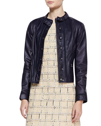 Sandra Leather Snap Jacket