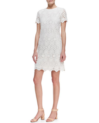 Trixy Crochet Lace Dress, Ivory