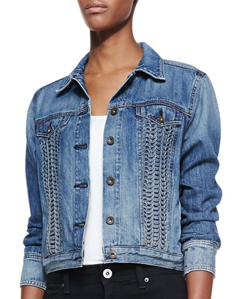 Bonnaz Loop-Panel Denim Jacket