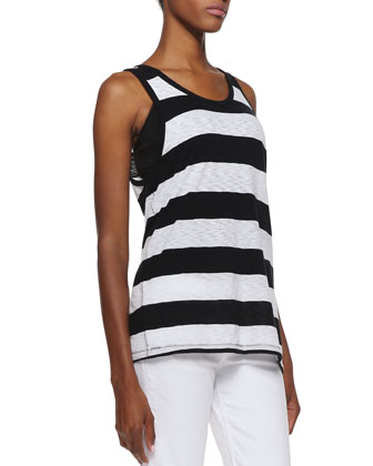 Cast Striped Slub Tank